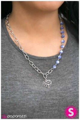 This May HEART A Little - Blue - Paparazzi necklace