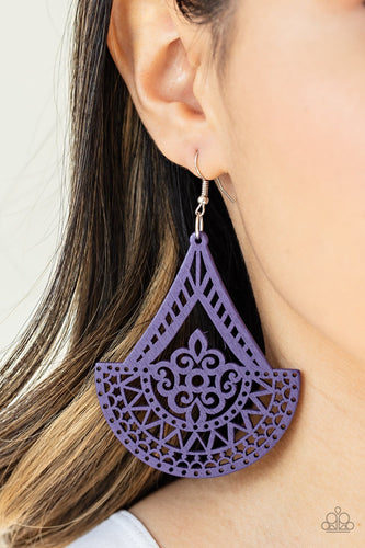Tiki Sunrise - purple - Paparazzi earrings