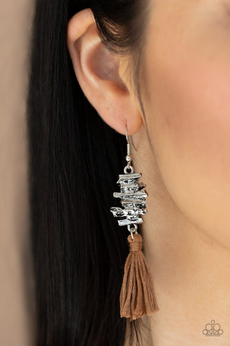 Tiki Tassel-brown-Paparazzi earrings
