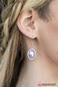 Timelessly Tampa - Purple - Paparazzi earrings