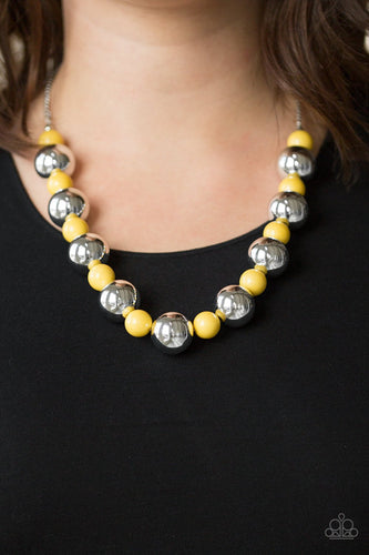 Top Pop - yellow - Paparazzi necklace