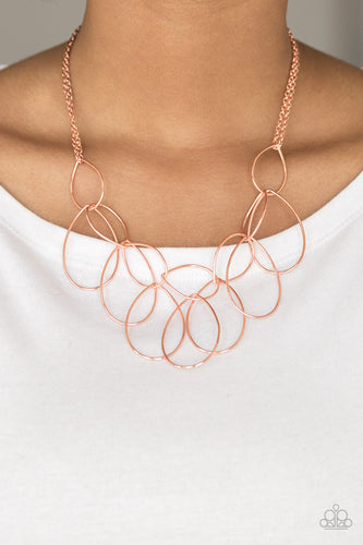 Top TEAR Fashion - copper - Paparazzi necklace