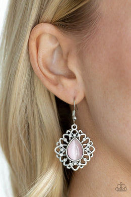 Totally GLOWN Away-pink-Paparazzi earrings