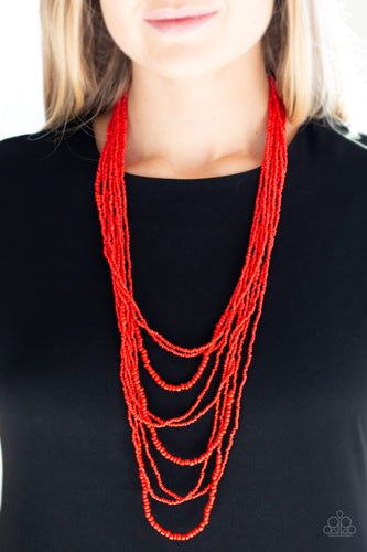 Totally Tonga - red - Paparazzi necklace