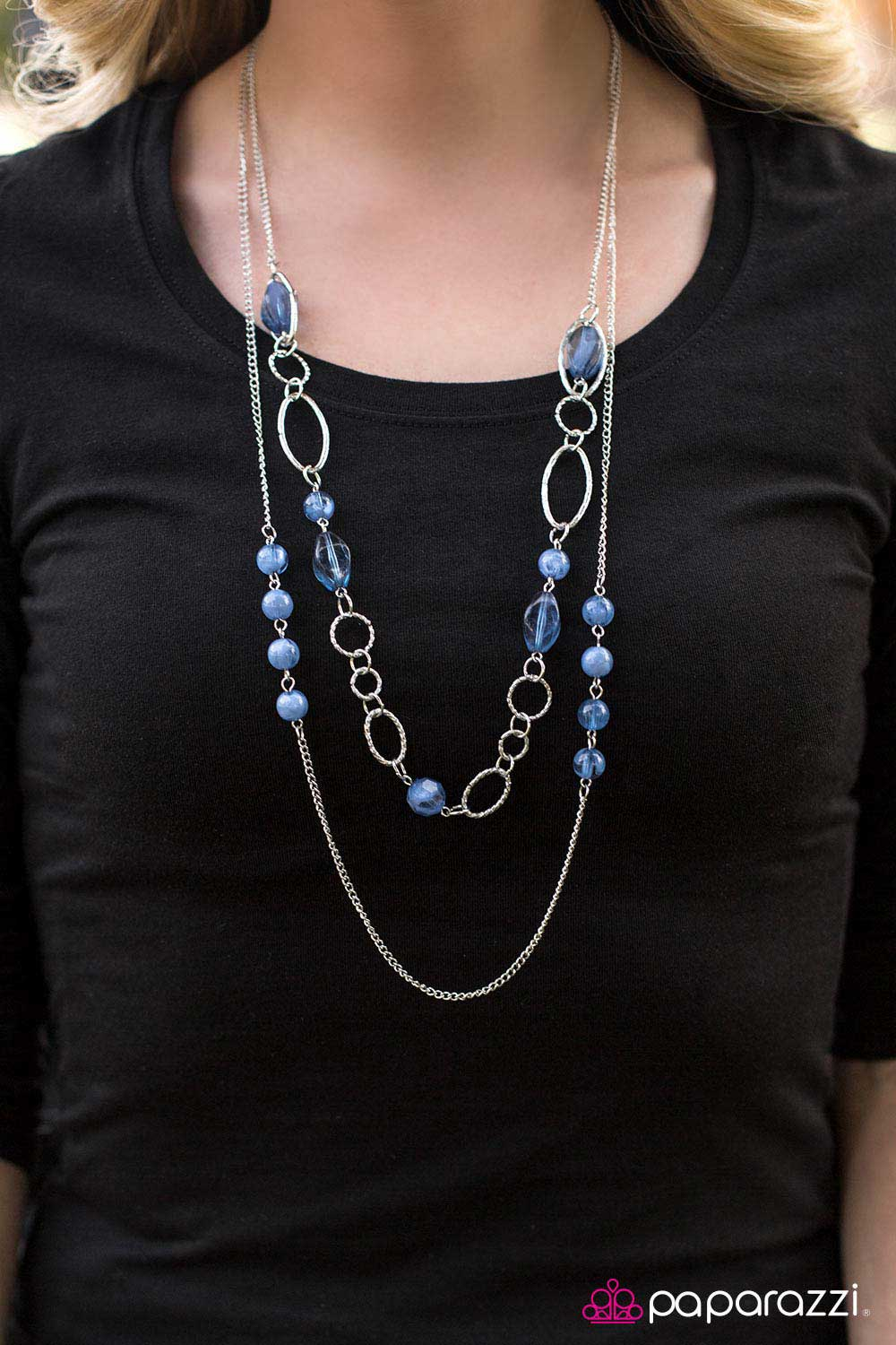 Touch The Clouds - Blue - Paparazzi necklace