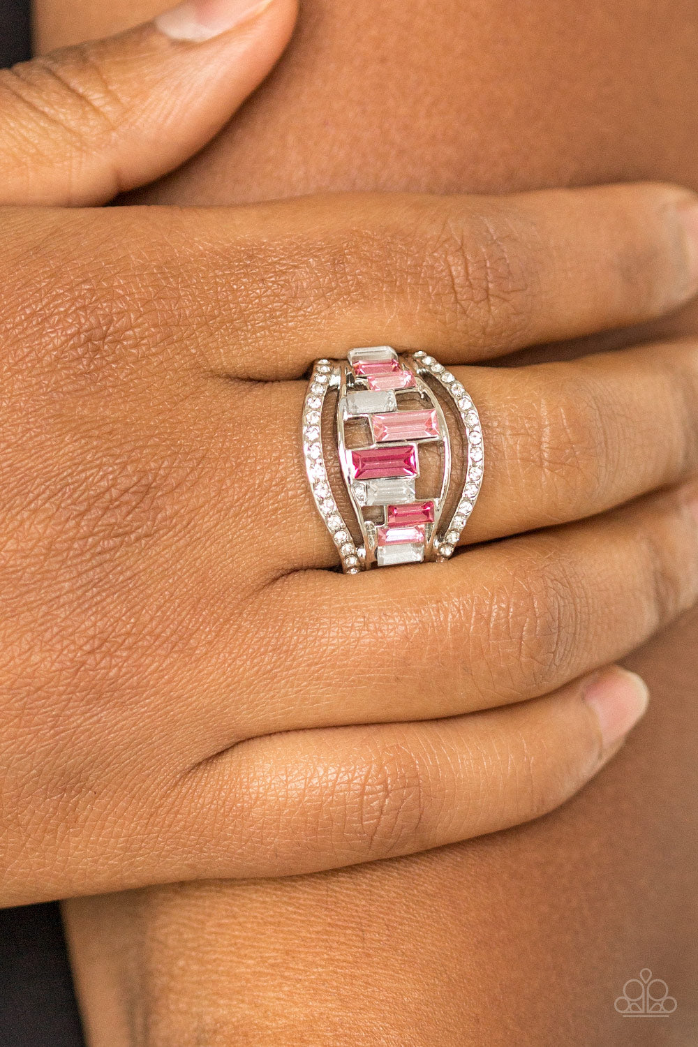 Treasure Chest Charm - pink - Paparazzi ring