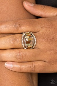 Treasure Chest Charm - brown - Paparazzi ring