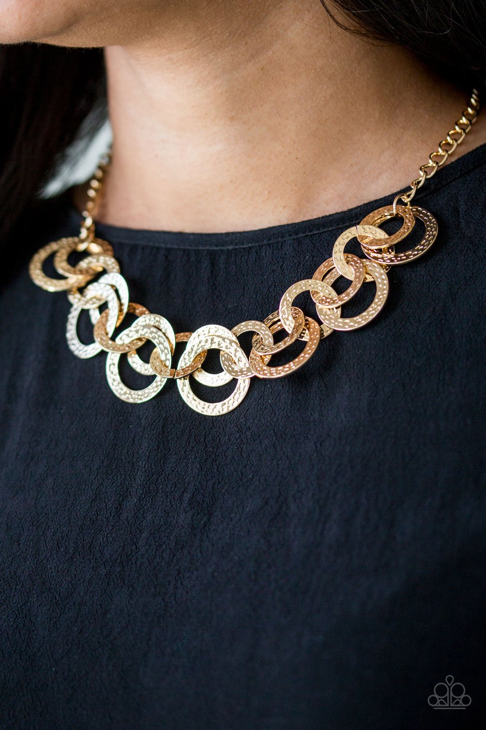 Treasure Tease - gold - Paparazzi necklace