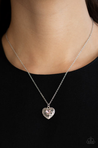 Treasures of the Heart - pink - Paparazzi necklace