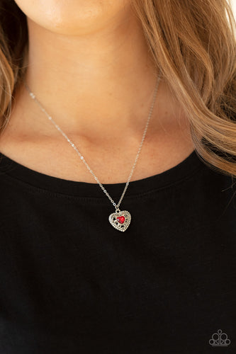 Treasures of the Heart - red - Paparazzi necklace