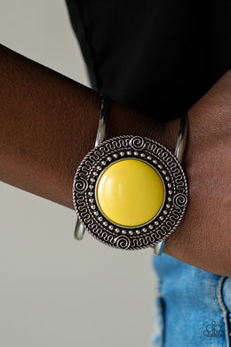 Tribal Pop-yellow-Paparazzi bracelet