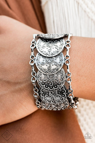 Tribal Treasure Trove-silver-Paparazzi bracelet