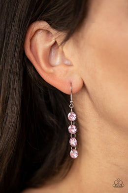 Trickle Down Effect-pink-Paparazzi earrings