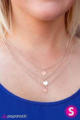 Trio Falls - rose gold - Paparazzi necklace