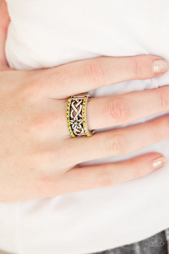 Tropical Springs - yellow - Paparazzi ring
