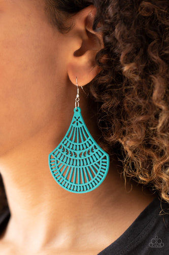Tropical Tempest - blue - Paparazzi earrings