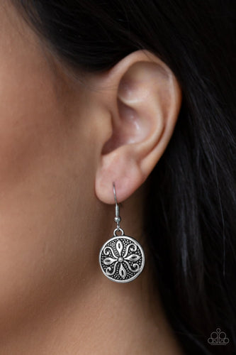 Tropical Trance - silver - Paparazzi earrings