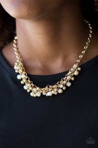 Trust Fund Baby-gold-Paparazzi necklace