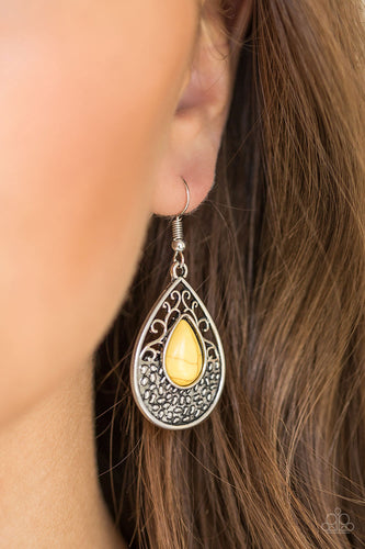 Tucson Tunes - yellow - Paparazzi earrings