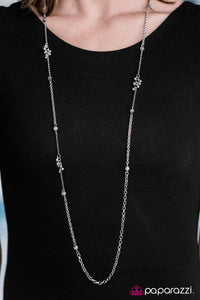 Twinkling Twilight - Silver - Paparazzi necklace
