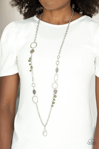 Unapologetic Flirt - green - Paparazzi Lanyard necklace