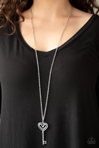 Unlock My Heart-silver-Paparazzi necklace