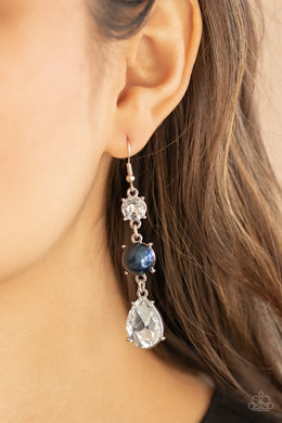 Unpredictable Shimmer - blue - Paparazzi earrings