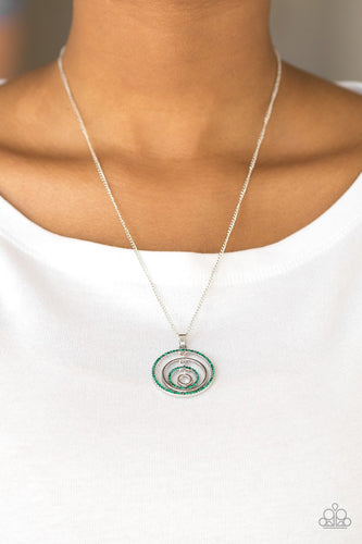 Upper East Side - green - Paparazzi necklace