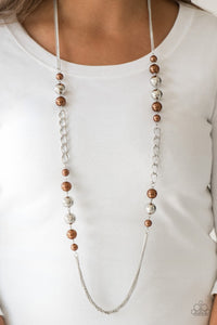 Uptown Talker - brown - Paparazzi necklace