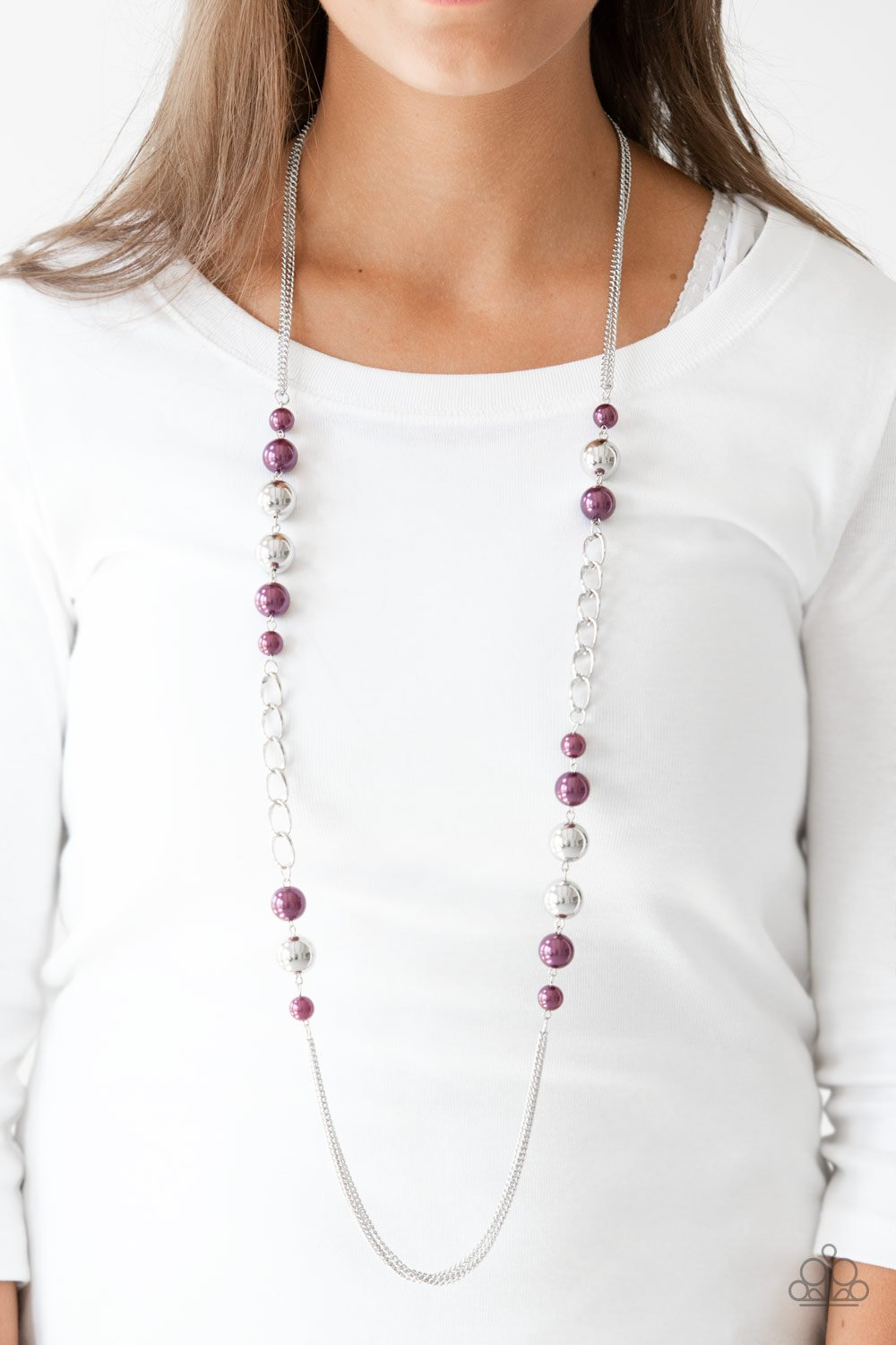 Uptown Talker - purple - Paparazzi necklace