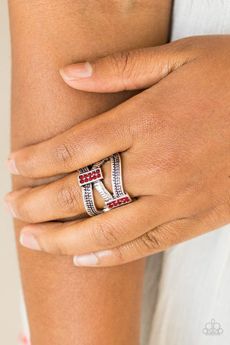 Urban Upscale - red - Paparazzi ring
