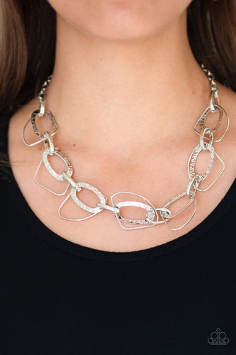 Very Avant Garde-silver-Paparazzi necklace