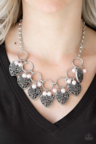 Very Valentine - pink - Paparazzi necklace