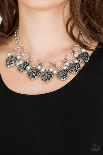 Very Valentine - silver - Paparazzi necklace