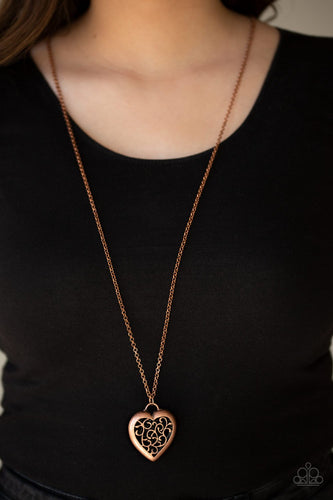 Victorian Valentine-copper-Paparazzi necklace