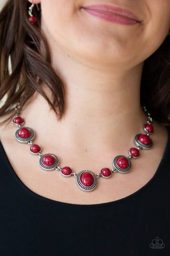 Voyager Vibes - red - Paparazzi necklace