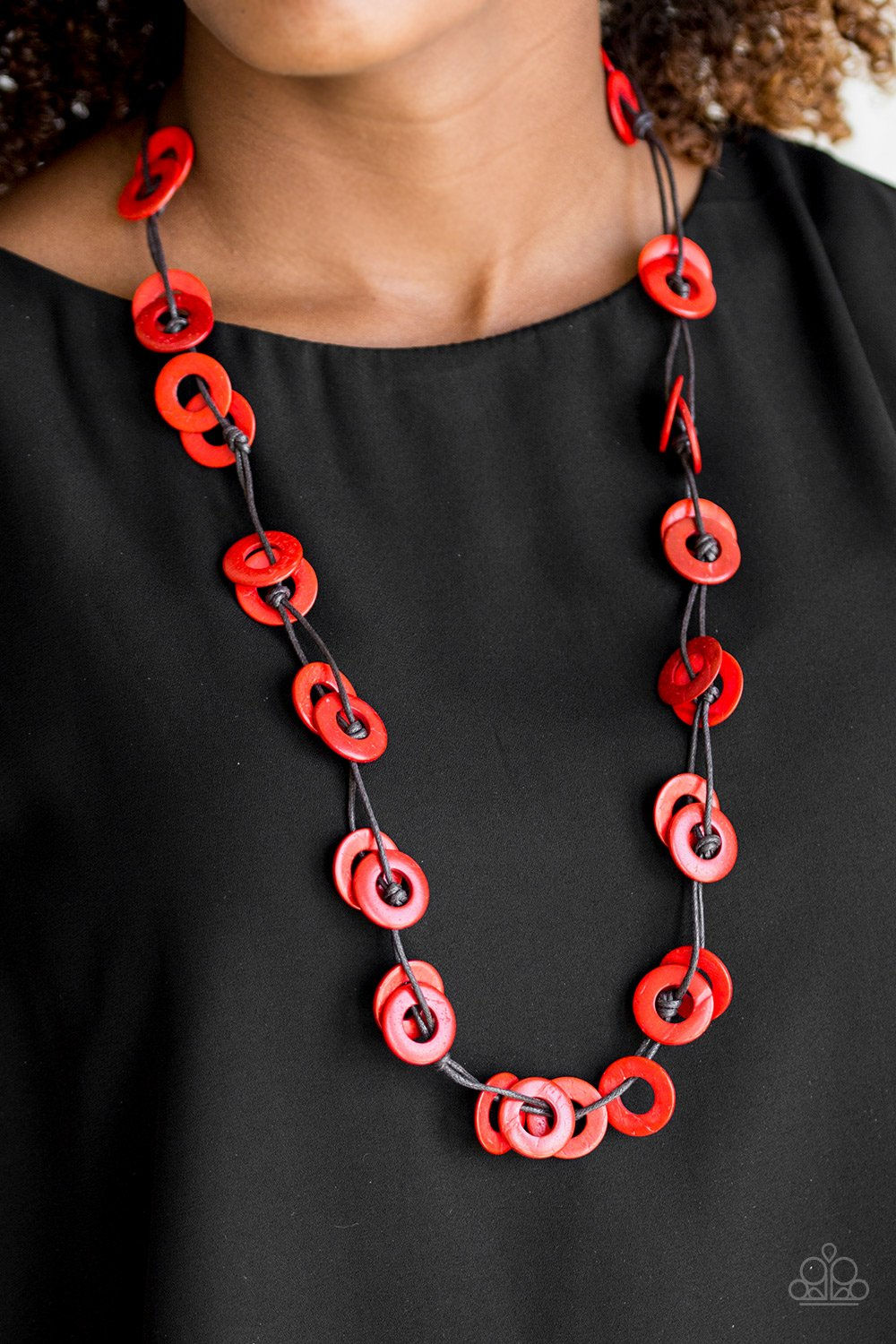 Waikiki Winds - red - Paparazzi necklace