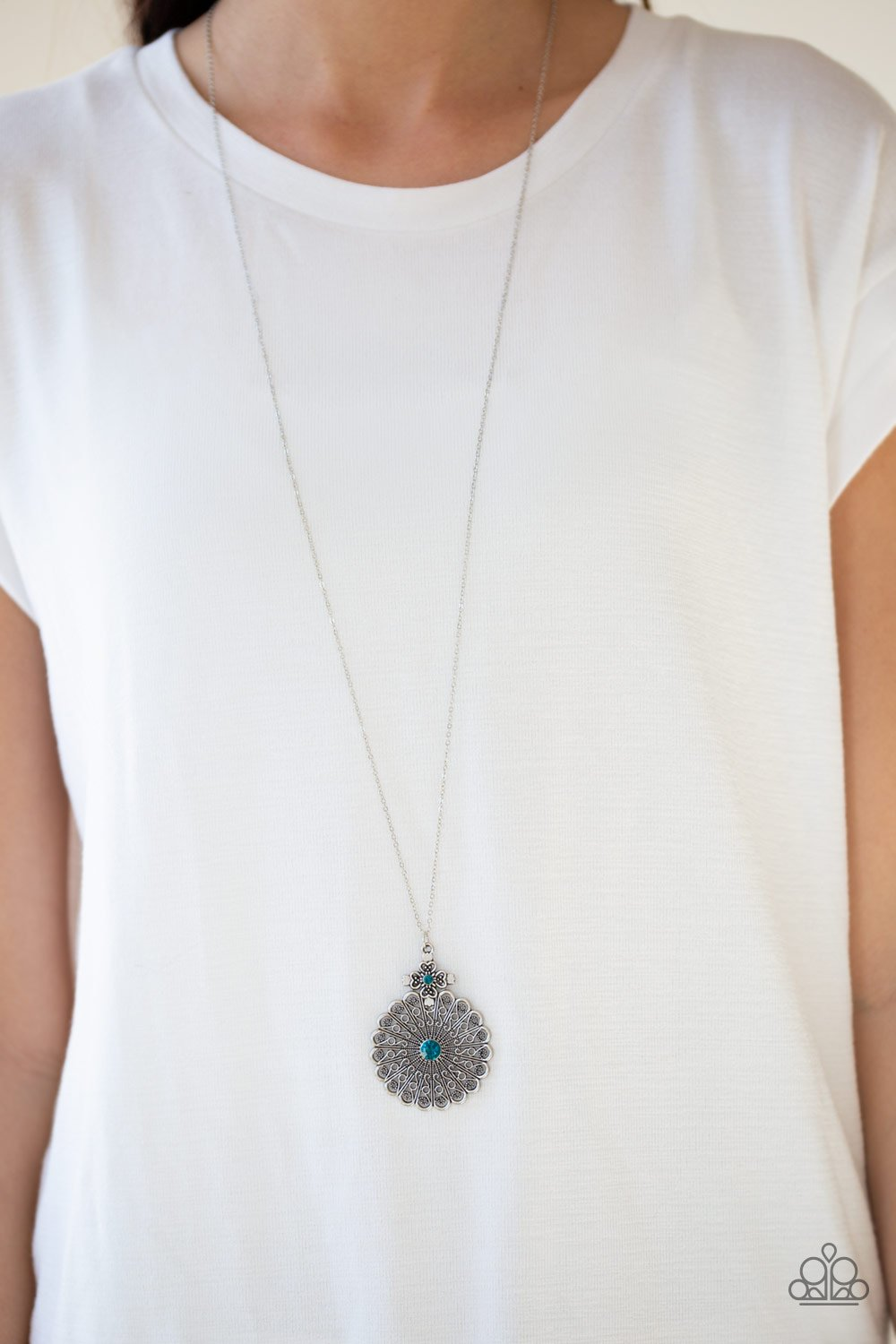 Walk On the WILDFLOWER Side-blue-Paparazzi necklace