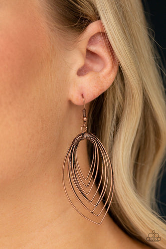 Walkabout Ware-copper-Paparazzi earrings
