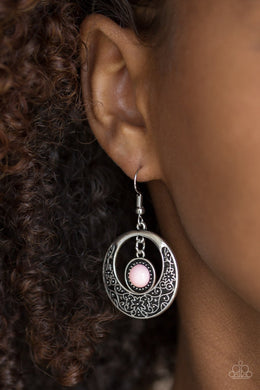 Wandering Waikiki-pink-Paparazzi earrings