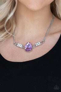 Way to Make an Entrance-purple-Paparazzi necklace