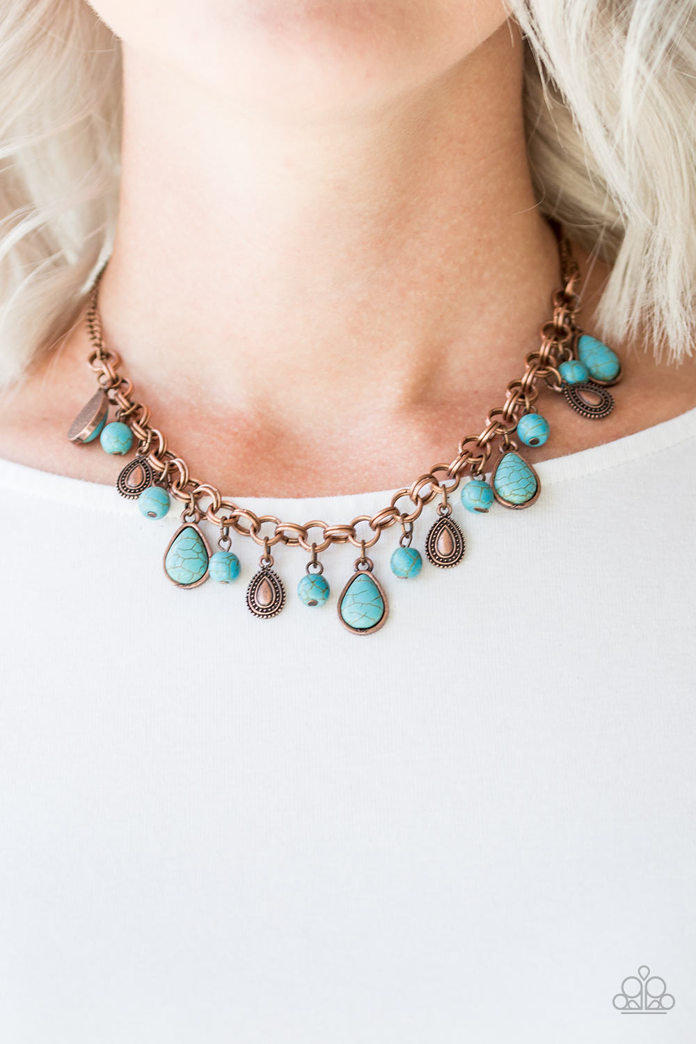 Welcome to Bedrock - copper - Paparazzi necklace