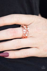 Welcome to GLEAMLAND - copper - Paparazzi ring