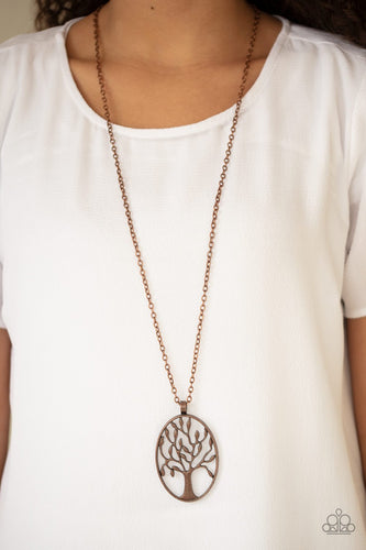 Well Rooted-copper-Paparazzi necklace