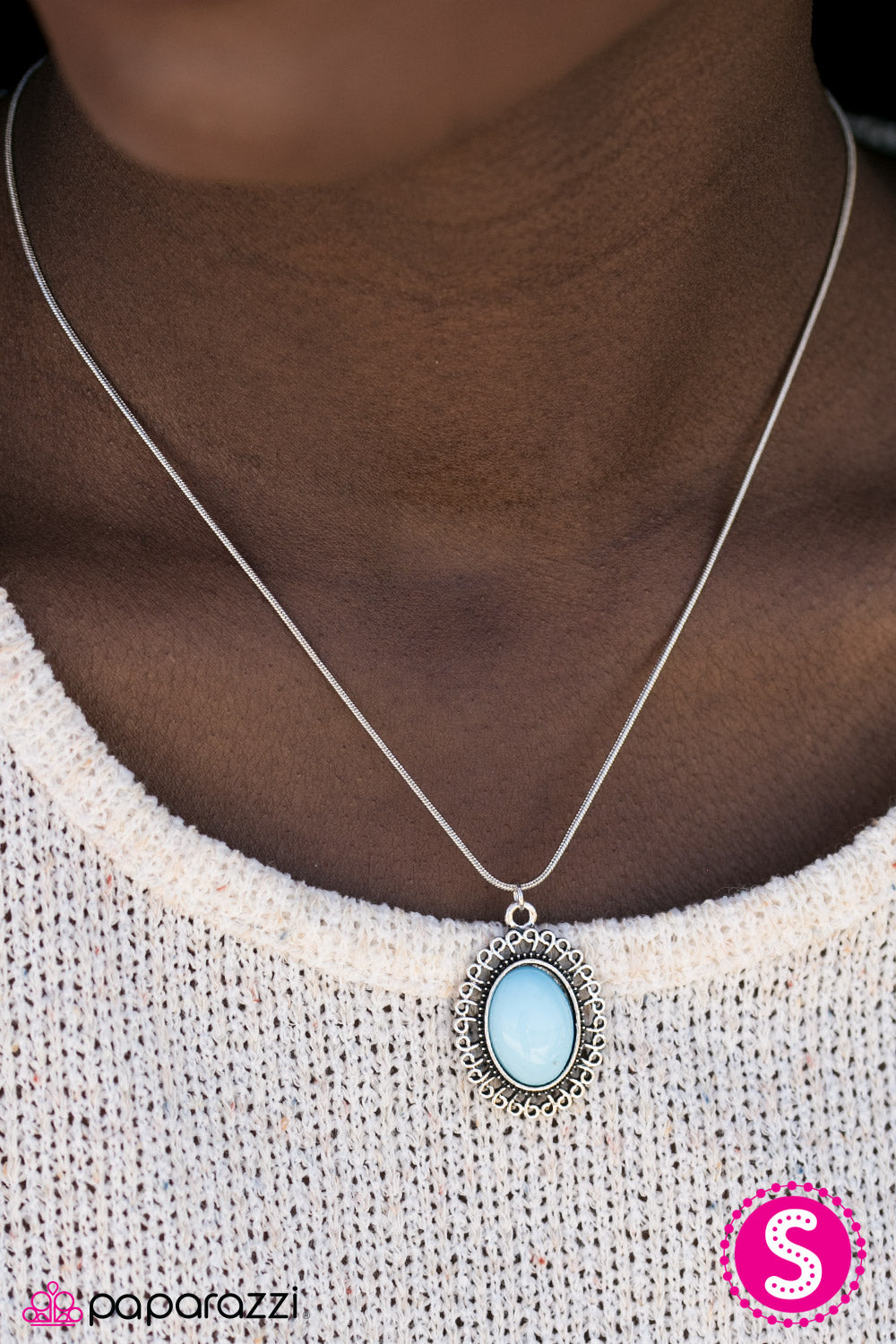 Western Plains - Blue - Paparazzi necklace