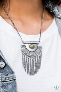 When In ROAM - green - Paparazzi necklace