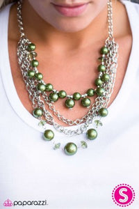 When on Wall Street - green - Paparazzi necklace