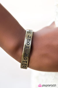 Wherever Your Heart Takes You - Brass - Paparazzi bracelet