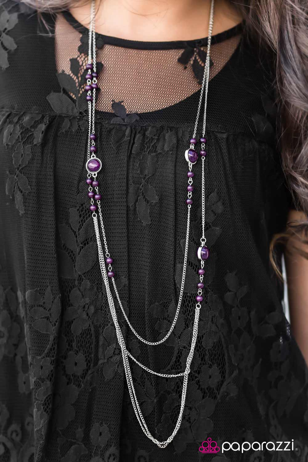 Wide Open Skies - Purple - Paparazzi necklace