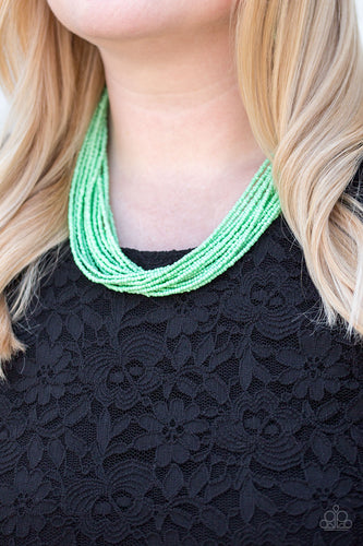 Wide Open Spaces - green - Paparazzi necklace